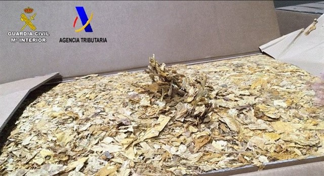 Intervenidas 39 toneladas de picadura de tabaco en una operación por toda España